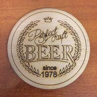 Подставка под пиво Perfect Craft Beer, фанера /Беларусь/