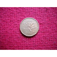 Канада 1 цент 1989 г.