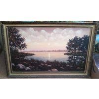 Картина, В.Яковенко, холст, размер с рамой 102 х 66 см. Цена снижена !