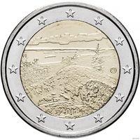 2 евро 2018 Финляндия Ландшафты Коли UNC из ролла