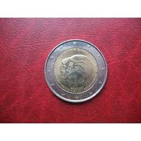 2 евро 2013 год Голландия (Нидерланды) (д) Объявление королевы Беатрикс о смене трона принцем Виллемом-Александром.