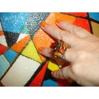 Стильное дизайнерское кольцо куплено в Израиле