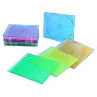 Коробка для CD/DVD дисков Slim-box (Б/У, slim-jewel, прозрачный или цветной полупрозрачный, для одного диска)