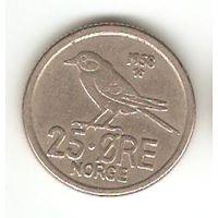 КОРОЛЕВСТВО НОРВЕГИЯ. 25 ЁРЕ 1958. ФАУНА. СИНИЦА.