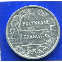 Французская Полинезия 2 франка 2001