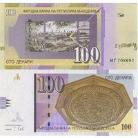 Македония - 100 Динар 2018г. UNC  .    распродажа