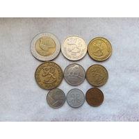 Финляндия. Набор из 9 монет. (1963, 1966, 1971, 1974, 1990, 1992, 1993, 1994)год.
