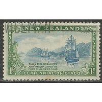 Новая Зеландия. 100 лет поселения в провинции Отаго. 1948г. Mi#301.