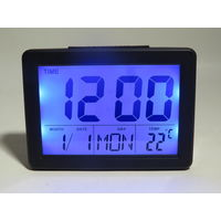 Часы настольные Космос X2619 с подсветкой, датой, температурой, таймером, датчиком звука и будильником