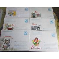 БЕЛАРУСЬ  Конверты разные цена 1 конверта на выбор