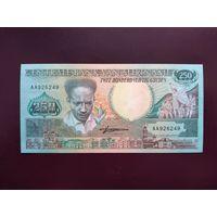 Суринам 250 гульденов 1988 UNC