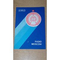 Календарик 1983 Радио Москва