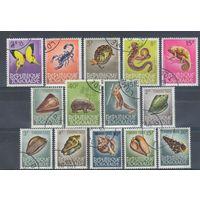 [1817] Того. Фауна. 14 гашеных марок.