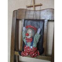 Кукла Клоун марионетка. 24 см.