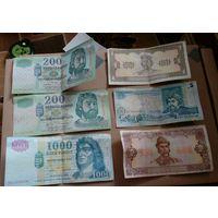 Лот банкнот Венгрии и Украины. Без МПЦ!