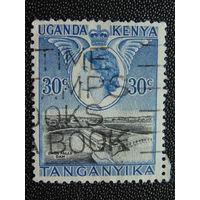 Британская колония Кения, Уганда, Танганьика 1954 г. Елизавета II.