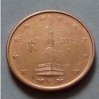 2 евроцента, Италия 2005 г., AU