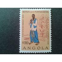 Ангола 1957, колония Португалии музыкант