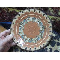 Тарелка настенная, керамика, 21,5 см.