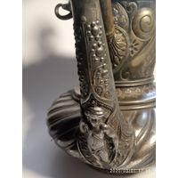 Антикварный чайник. Посеребрение.1875- 1890 г. Meriden Silver Plate. U.S.A .