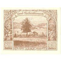 YS: Австрия, Niederoesterreich, нотгельд земли Нижняя Австрия, 50 геллеров 5.1920-31.12.1920, UNC