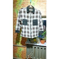Куртка-рубашка (байковая) с утеплителем