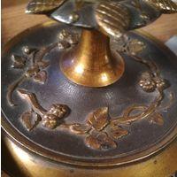Старинный подсвечник бронза декорация разборный