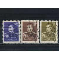 Иран 1958 Шах Реза Пехлеви Стандарт #1039,1040,1043