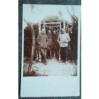 Фото немецких военных в 1-ю мировую. 9х14 см.