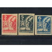 Чехословакия 3-я Респ 1945 Советский солдат Кошице Полная #408-10*