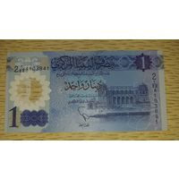 Ливия 1 динар 2019 UNC Полимер