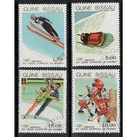 Гвинея - Бисау /1983/ Спорт / Зимняя Олимпиада / Хоккей / 4 Марки из серии