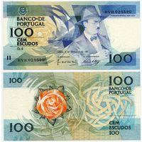 Португалия. 100 эскудо (образца 03.12.1987 года, P179d, подпись 6, UNC)