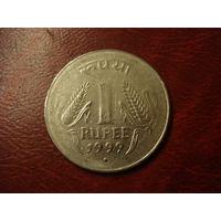 1 рупи 1999 год Индия (точка под датой)