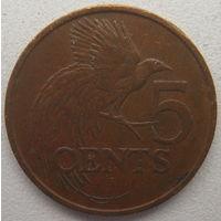 Тринидад и Тобаго 5 центов 1977 г. (m)
