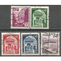 Французское Марокко. Местные мотивы. 1952г. 5 марок.