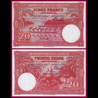 [КОПИЯ] Бельгийское Конго 20 франков 1942г. (Красная)