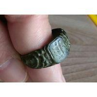 Кольцо перстень с инициалами старинное