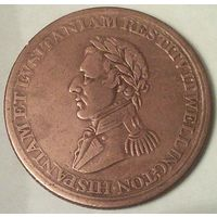 Верхняя КАНАДА 1/2 пенни 1812 год