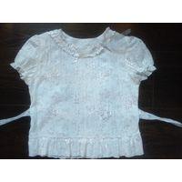 Блузка белая. Рост 122 - 134 см