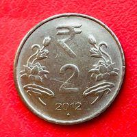 04-04 Индия, 2 рупии 2012 г. - Мумбаи