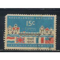 NL Колонии Нидерландские Антилы 1956 10 лет Карибской Комиссии #52