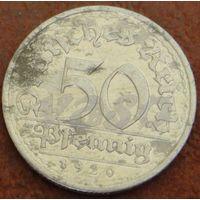 438**  50 пфеннигов 1920 А Германия