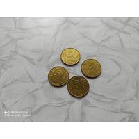 Киргизия (Кыргызстан) - 4 монеты по 50 тыйин 2008 год, цена за 1 монету