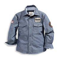 """Стильная фирменная рубашка """"под джинс"""" .Произведена в Германии.Чистый 100% био хлопок."""