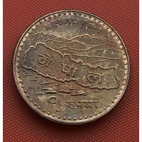 119-02 Непал, 1 рупия 2009 г.