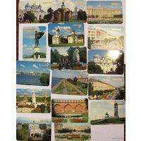 """Тульские календарики No 11, """"Новгород"""" 1989"""