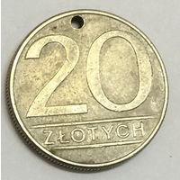 Польша, 20 злотых 1986