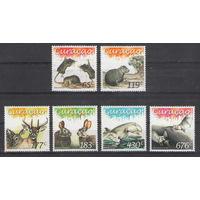 Кюрасао Фауна 2015 год чистая полная серия из 6-ти марок