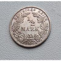 "Германия 1/2 марки, 1906 ""A"" - Берлин 7-10-11"